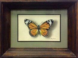 Картины, постеры, гобелены, панно - Бабочка (графическая миниатюра) , 0