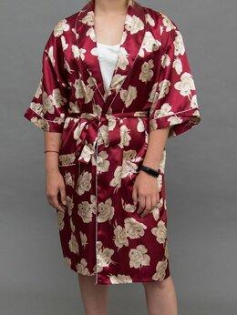 Домашняя одежда - Халат женский шелковый, 0