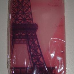 Чехлы - Бампер силиконовый фиолетовый на iPhone 4 «Эйфелева башня»., 0