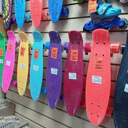 Скейтборды и лонгборды - скейтборд пенниборд пластиковый подростковый колеса свет, 0