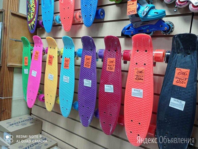скейтборд пенниборд пластиковый подростковый колеса свет по цене 1200₽ - Скейтборды и лонгборды, фото 0