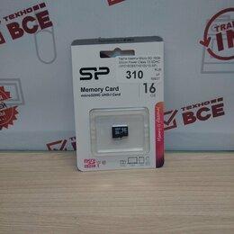 Карты памяти - Флеш карта памяти для телефона 16гб MicroSD Silicon Power, новая, гарантия, 0