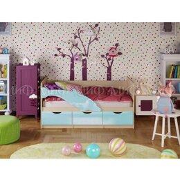 Кроватки - Детская кровать Дельфин 1 180х80 Голубая, 0