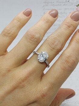 Кольца и перстни - Золотое кольцо с бриллиантом 3,30 ct, 0