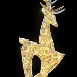 Новогодний декор и аксессуары - Световая фигура Олень, 300 см - цвет на выбор, 0