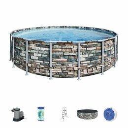 Бассейны - Каркасный бассейн Bestway 549*132 см арт. 56886, 0