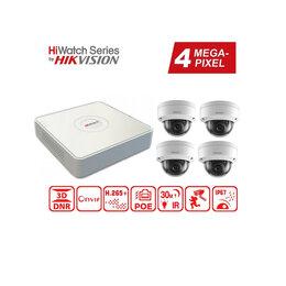 Готовые комплекты - Видеонаблюдение на 4 камеры 4MP HiWatch (IP-POE)., 0