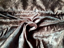 Ткани - Ткань подкладочная поливискоза коричневого цвета, 0