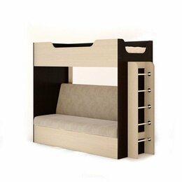 Кровати - Кровать двухъярусная с диваном, 0