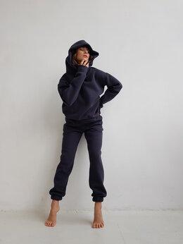 Костюмы - Теплый костюм Черника с начёсом из плотной ткани, 0
