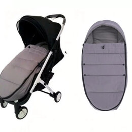 Аксессуары для колясок и автокресел - Новый огромный конверт-кокон #4 в коляску (серый), 0