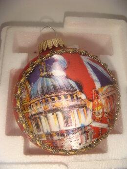 Ёлочные украшения - Игрушка шар красный Harrods - 2000 год, 0