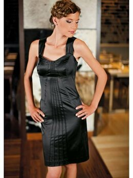 Платья - Платье Праздничное прилегающее черное новое,…, 0