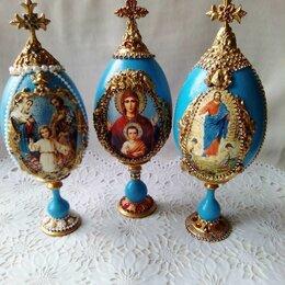 Статуэтки и фигурки - Яйцо интерьерное пасхальное с ликами святых ( большое! )  , 0