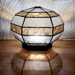 Ночники и декоративные светильники - Сферический шестигранный ночник из витражного…, 0