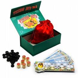 Настольные игры - ЛОТО зеленая картонная коробка, 0