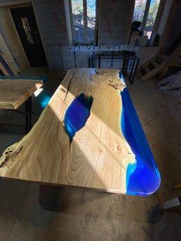 Столы и столики - Стол-река лофт из слэба и эпоксидной смолы, 0