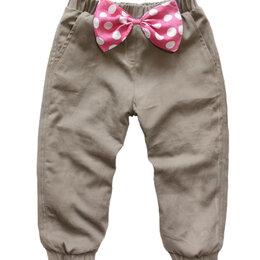 Брюки - Утепленные детские брюки с бантами, 0