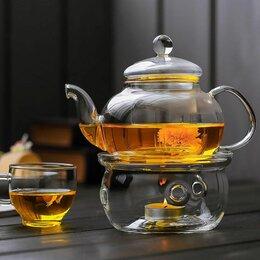 Подставки и держатели - Стеклянная подставка подогреватель для чайника, 0