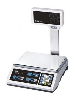 Весы - Торговые весы CAS ER JR-6CBU белые, 0