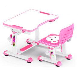 Компьютерные и письменные столы - Растущая парта и стул BD-08 Teddy pink белая,…, 0