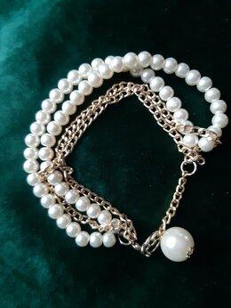 Комплекты - Браслет,серьги-пусеты, ожерелье , 0