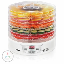 Сушилки для овощей, фруктов, грибов - Сушилка для овощей и фруктов BBK BDH305D белый, 0