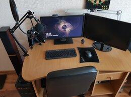 Настольные компьютеры - Игровой компьютер, 2 монитора, 2 акустики, столы, 0