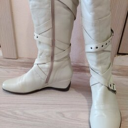 Сапоги - Итальянские кожаные сапоги размер 39, 0