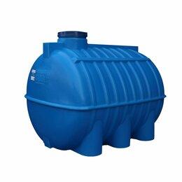 Баки - Бак для воды горизонтальный ОГ 3000 литров Аквапласт, 0