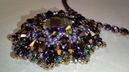 Кулоны и подвески - Колье с кристаллом Swarovski и бисера, 0
