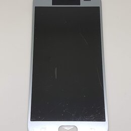 Дисплеи и тачскрины - Дисплей Samsung J330 Galaxy J3 2017 модуль серебристый Silver GH96-10992A Оригин, 0