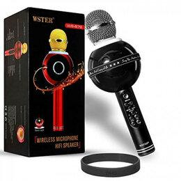 Микрофоны - Микрофон для караоке беспроводной WS-878. Черный, 0