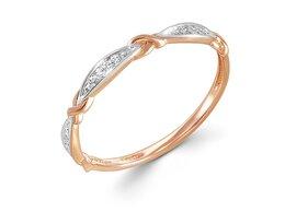Кольца и перстни - Кольцо с 15 фианитами из красного золота, 0