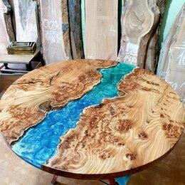 Столы и столики - Стол река круглый из массива дерева, 0