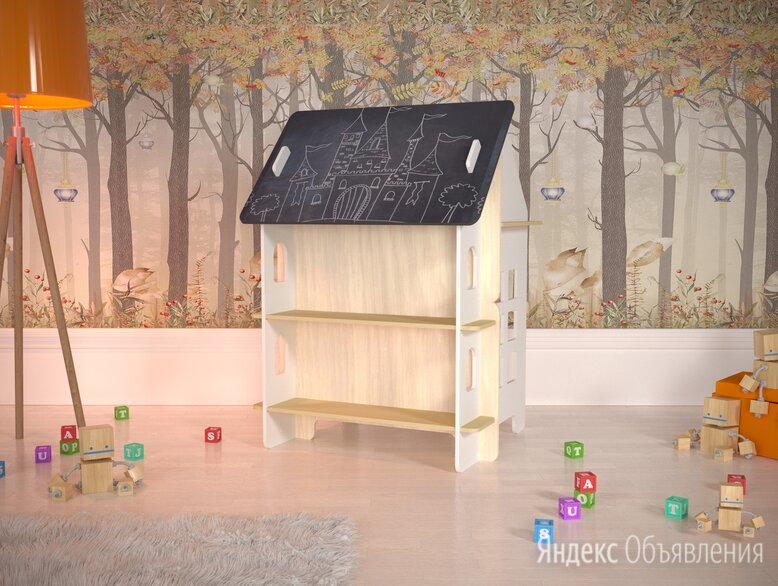 """Детский столик для творчества с меловой доской """"Милый дом"""" по цене 11550₽ - Рисование, фото 0"""