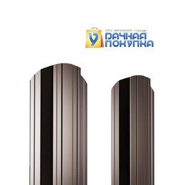 Заборы, ворота и элементы - Штакетник металлический П-образный ДВС PE 0,45 мм RAL8017, 0