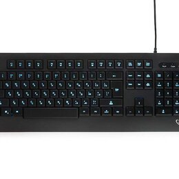 Клавиатуры - Клавиатура с подсветкой Gembird KB-230L черный USB, 0