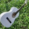 Гитара белая классическая по цене 3800₽ - Акустические и классические гитары, фото 0