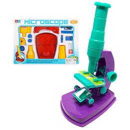 """Микроскопы - Микроскоп """"DIY"""" 24*17*4см 150-кратное увеличение, от 3лет, картонна..., 0"""