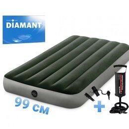 Надувная мебель - 99*191*25 Надувной матрас с насосом Intex 64107н, 0
