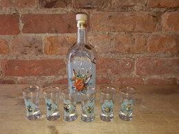 Этикетки, бутылки и пробки - Набор бутыль и 6 стопок. Охота. Словакия 70 - 80…, 0