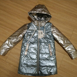 Куртки и пуховики - Куртка демисезонная серебристая, 0