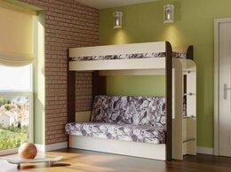 Диваны и кушетки - Кровать детская двухъярусная с диван-кроватью, 0