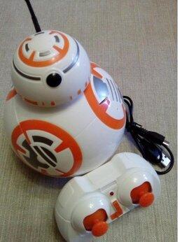 Радиоуправляемые игрушки - Детский радиоуправляемый робот-дроид BB-8 STAR…, 0