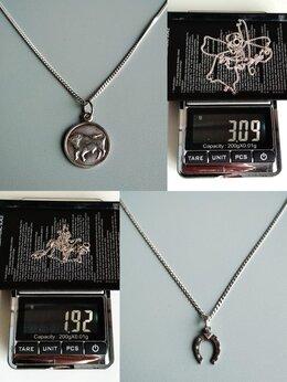 Цепи - Серебряные цепочки с кулонами, 0