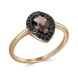 Кольца и перстни - Кольцо с раух топазом и 20 фианитами из красного золота, 0