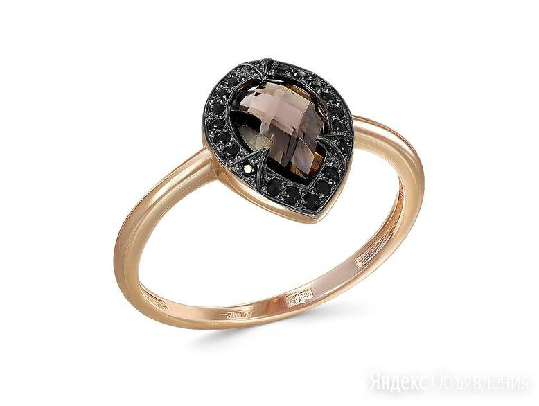 Кольцо с раух топазом и 20 фианитами из красного золота по цене 12227₽ - Кольца и перстни, фото 0