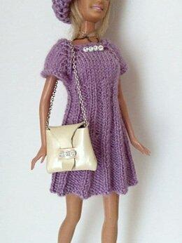 Аксессуары для кукол - Одежда и сумка для куклы Барби Barbie, 0
