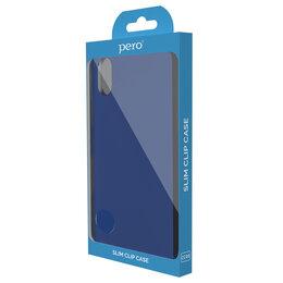 Чехлы - Клип-кейс PERO софт-тач для Vivo Y11/Y12 синий, 0